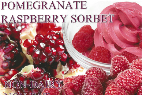 Pomegranate Raspberry Sorbet
